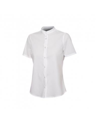 Camisa Cuello Tirilla Stretch Mujer M/C